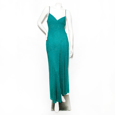 Vintage Anon Beaded Slip Dress