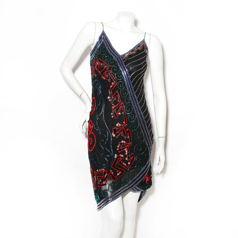 Vintage Fabrice Beaded Slip Dress