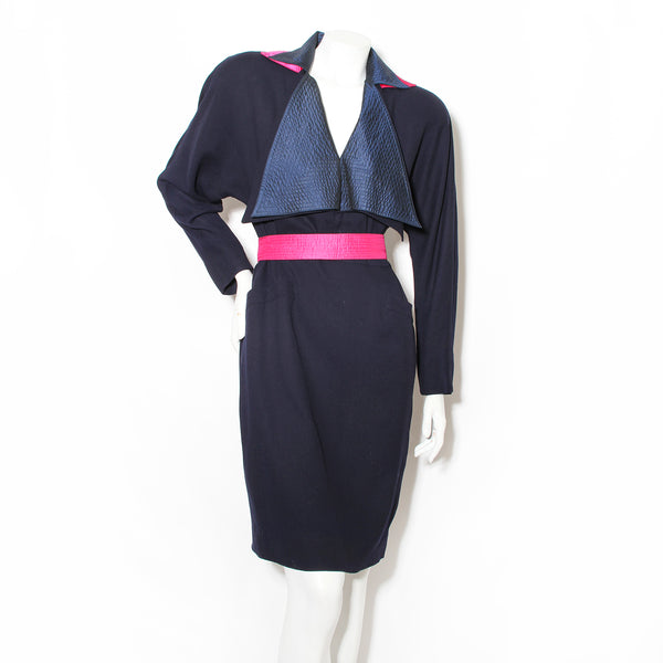 Ferré Double Collar Dress