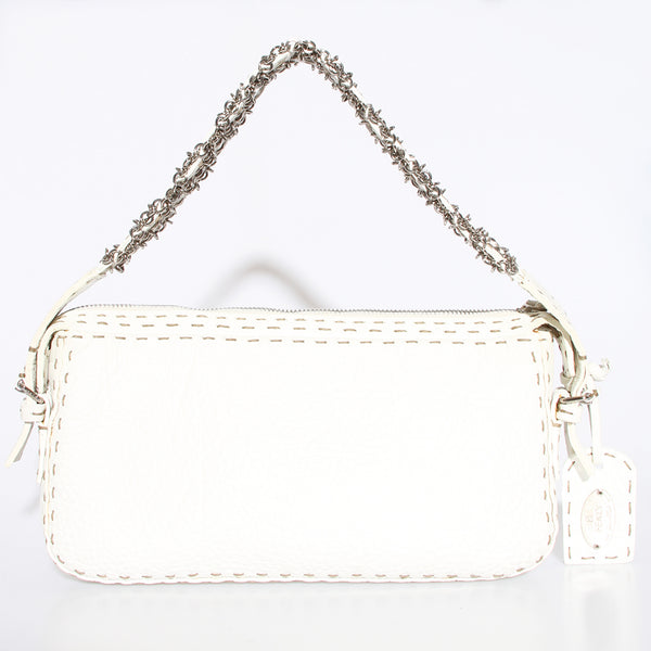 Fendi Leather with Silver Chain Bag