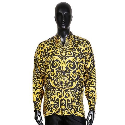 Baroque Print Silk Shirt