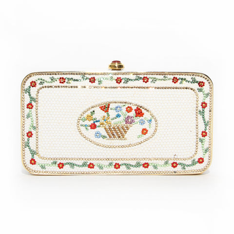 Leiber Floral Crystal Clutch