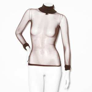 Courreges Vintage Mesh Turtleneck