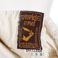 World's End Checker Woven Cotton Pirate Pants, 1980s