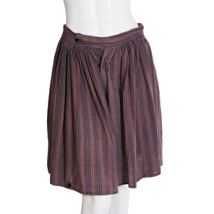 World's End Striped Cotton Wide Leg Shorts, 1980s
