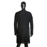 Black Tailcoat with Mantilla Fringe