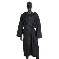 Hooded Oversize Trench Coat with Leather Back Strap