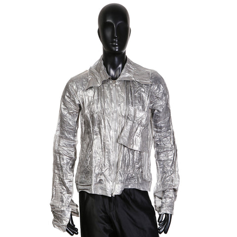 Crinkled Metallic Shirt
