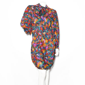 YSL Abstract Print Dress