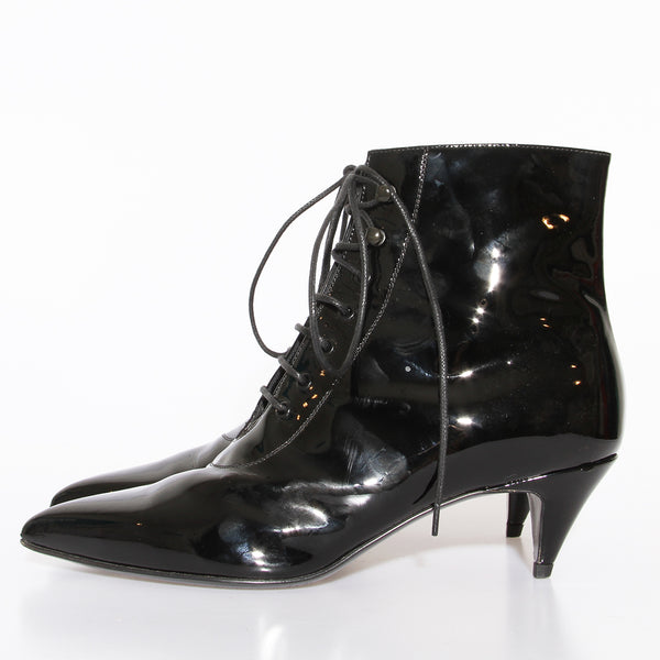 Saint Laurent Patent Kitten Heel Bootie