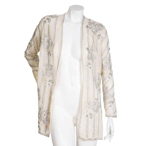 Couture Beaded Silk Jacket