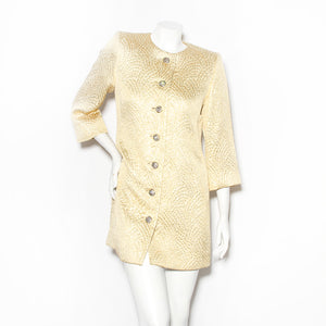 YSL Lurex Rhinestone Button Coat