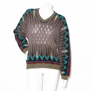 Kansai Knit Pattern Sweater