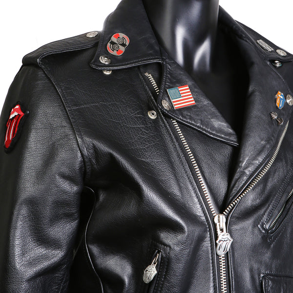 """Steel Wheels"" Rolling Stones 1989 Tour Leather Moto Jacket"