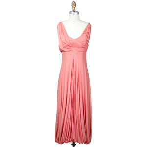 PLEATED CHIFFON DRESS circa early 1960s