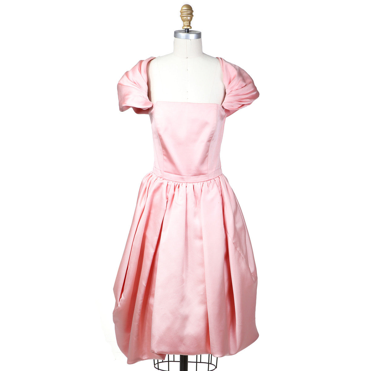 BUBBLE GUM PINK BABY DOLL DRESS with Cap Sleeves circa 1980s