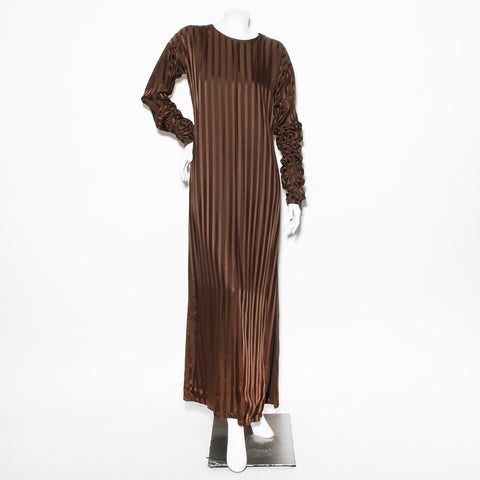 JPG Striped Longsleeve Satin Dress