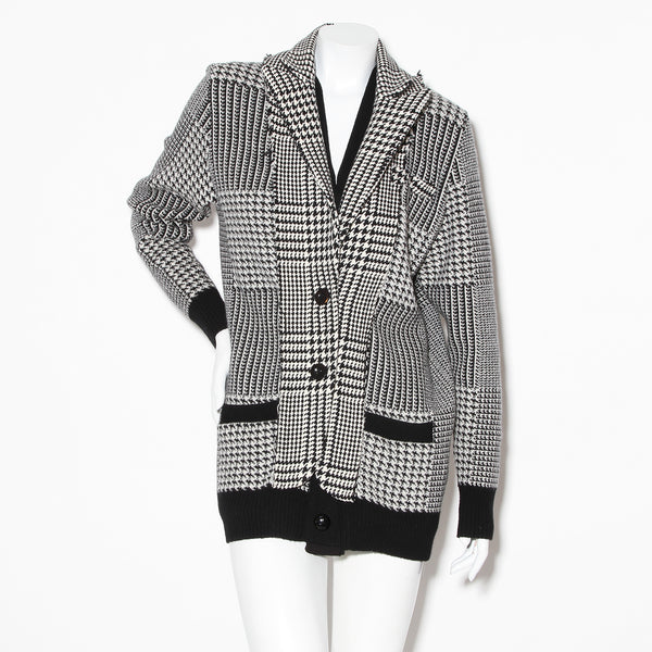 Sacai Mixed Houndstooth Coat