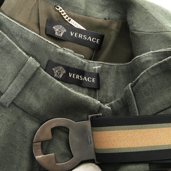 Versace Three Piece Suit With Belt