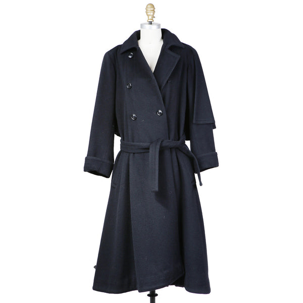 Haute Couture Wool Coat with Capelet circa 1980s