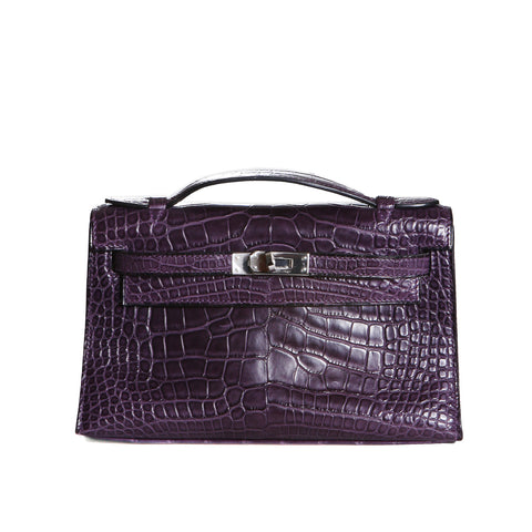 Purple Alligator Kelly Pochette, 2008