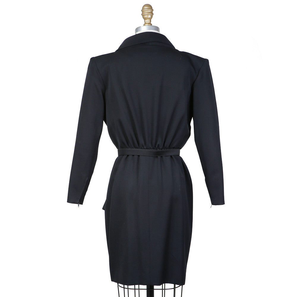 Longsleeve Collared Dress with Belt circa 1980s