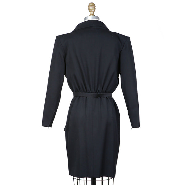 Long Sleeve Collared Dress with Belt circa 1980s
