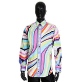 Multicolor Swirled Print Button Up Shirt