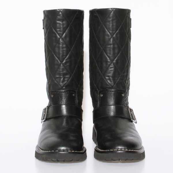 Chanel Shearling Biker Boot