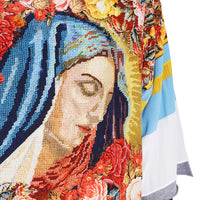 Virgin Mary Needlepoint Print Graphic Tee