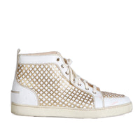 Rantus White and Gold Lattice Hi-Top Sneakers, Spring 2010