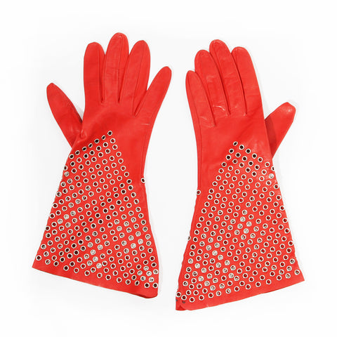 Leather Grommet Gloves