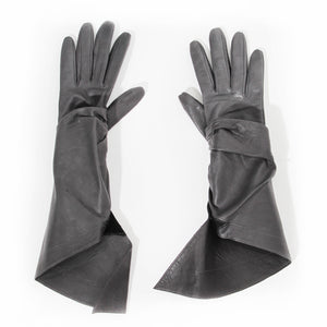 Alaia Leather Wrap Gloves