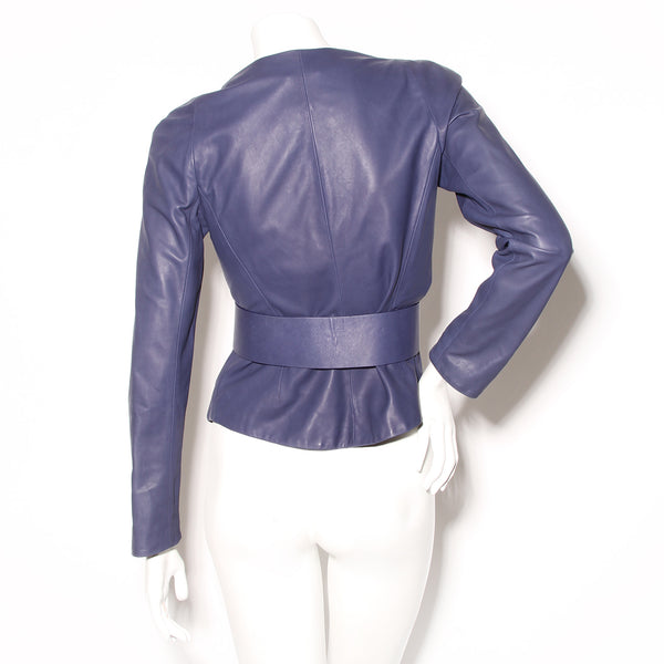Armani Leather Jacket W Belt