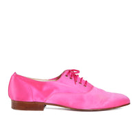 Pink Satin Oxfords