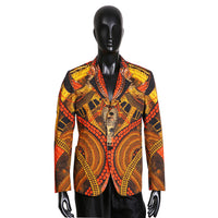 """Pomp and Circumstance"" Graphic Print Blazer"