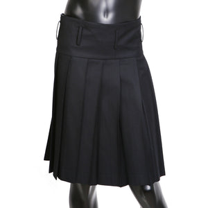 All Around Pleated Kilt in Black Wool, Fall 2012