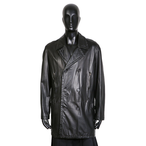 Black Lambskin Mac Coat, circa 1980s