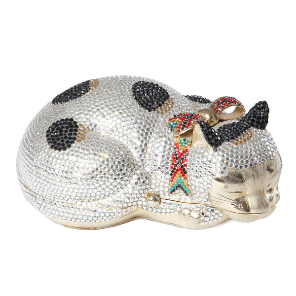Sleeping Cat Crystal Minaudiere