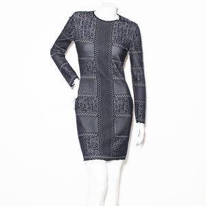 McQueen Lace and Knit Long Sleeve Dress