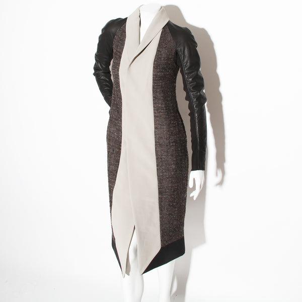 Rick Owens Mixed Fabric Coat