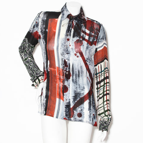 Jean Paul Gaultier Printed Long Sleeve Blouse