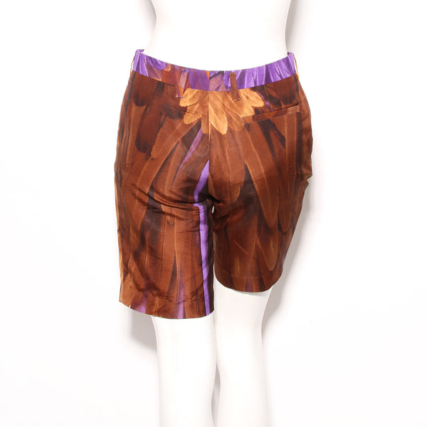 Prada Feather Print Shorts