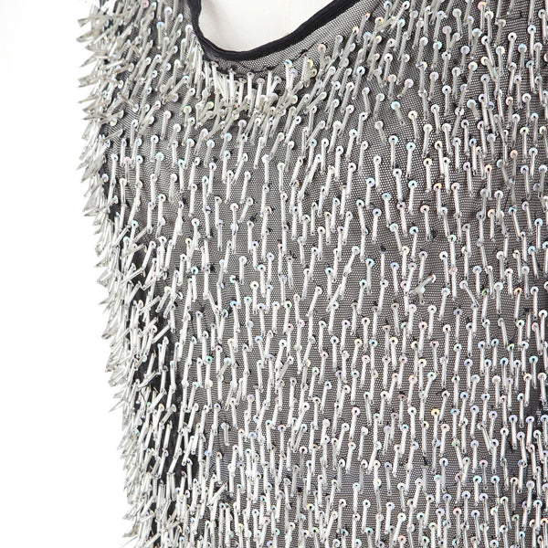 Mesh With Fringed Beading