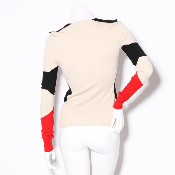 Givenchy Tricolor Turtleneck Sweater