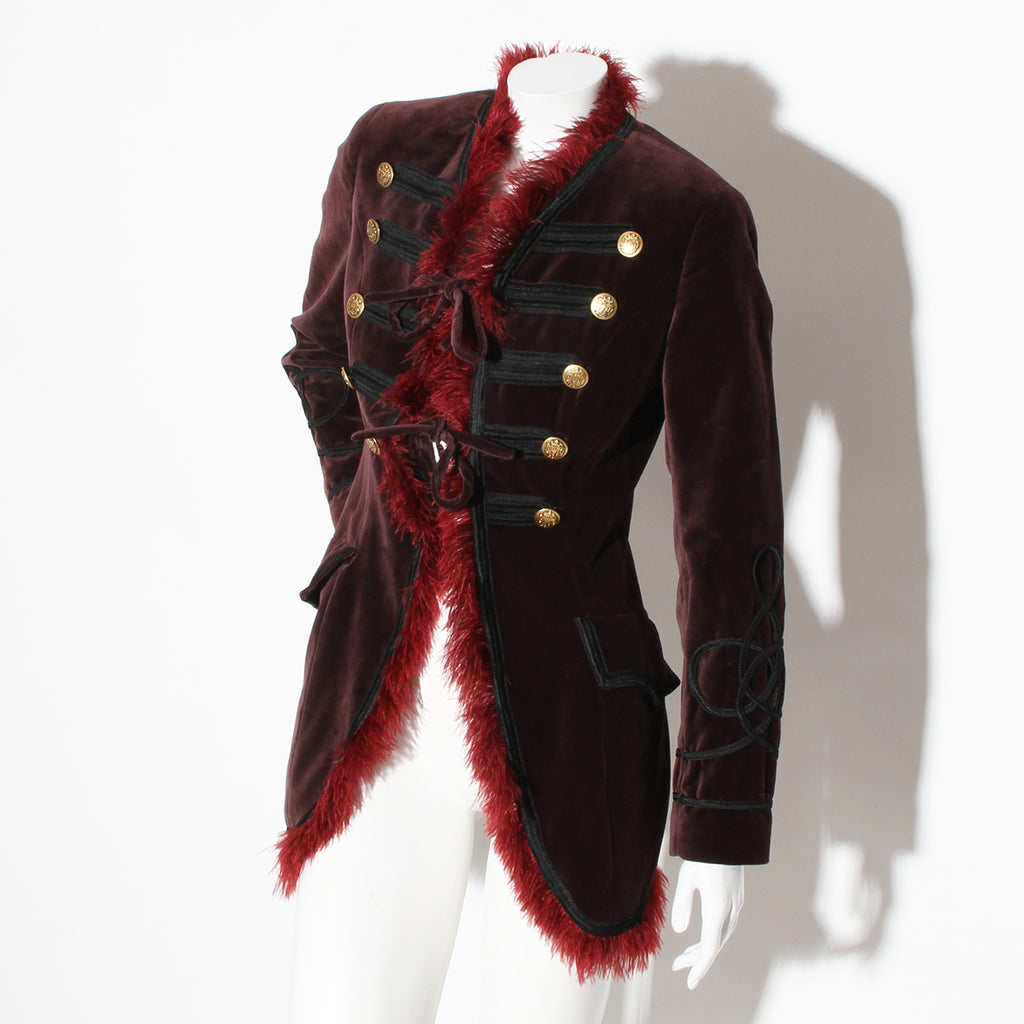 Alligator Coat with Mink Trim