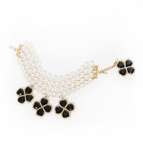 Escada Pearl and Clover Choker