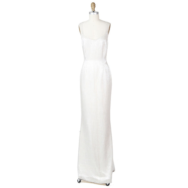 White Beaded Gown – Decades Inc.