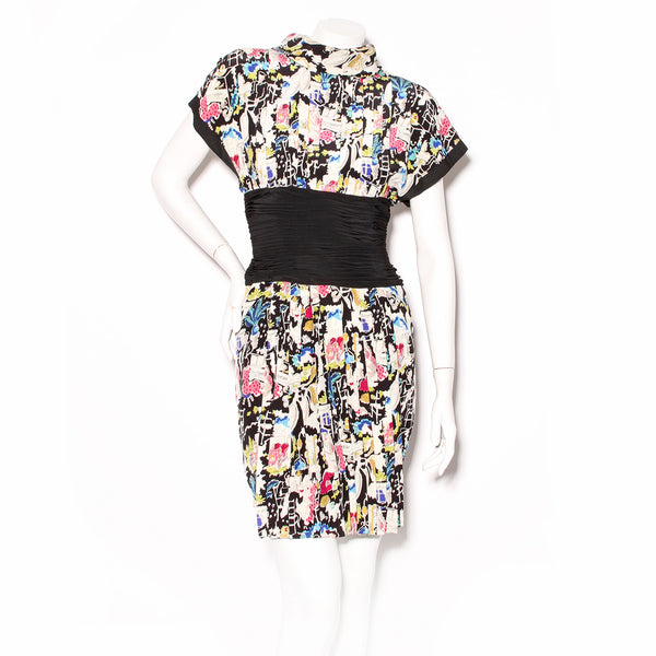 Chanel Pleated Print Dress