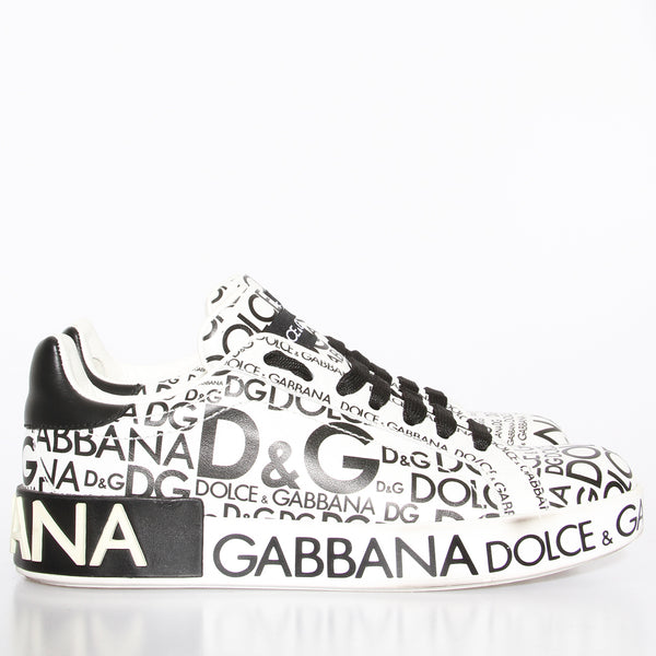 Dolce and Gabbana Text Print Sneaker